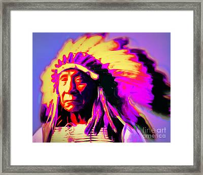 Chief Red Cloud 20151230 Framed Print by Wingsdomain Art and Photography
