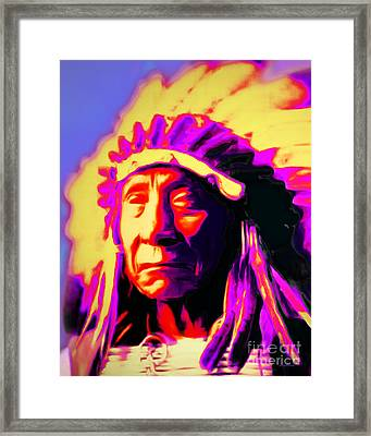 Chief Red Cloud 20151230v2 Vertical Framed Print by Wingsdomain Art and Photography