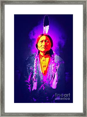 Chief Sitting Bull 20160103 Framed Print by Wingsdomain Art and Photography