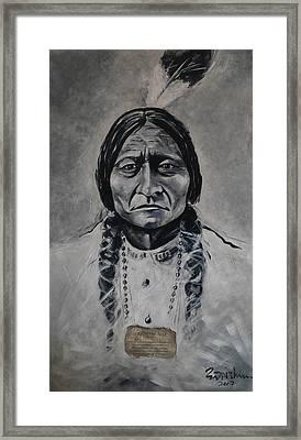Chief Sitting Bull Framed Print by Eddie Lim