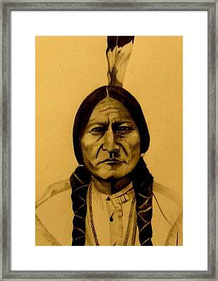 Chief Sitting Bull  Tatanka Iyotake Framed Print