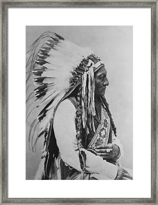 Chief Sitting Bull Framed Print by War Is Hell Store