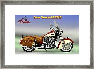 Chief Vintage Le 2013 Framed Print