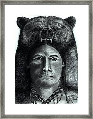 Chief Walking Bear Framed Print by Bob Schmidt