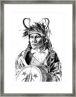 Chief Wets It Framed Print by Toon De Zwart