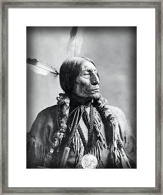 Chief Wolf Robe 1904 Framed Print by Daniel Hagerman
