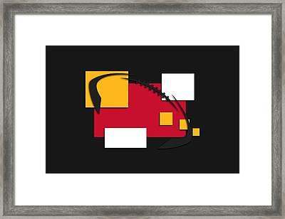 Chiefs Abstract Shirt Framed Print by Joe Hamilton
