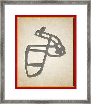 Chiefs Face Mask Framed Print by Joe Hamilton