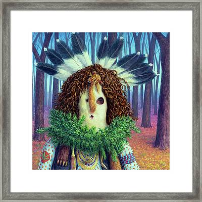 Chief's Hideout Framed Print by James W Johnson