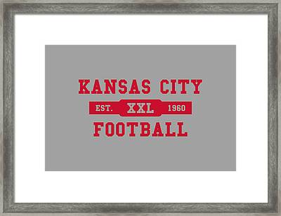 Chiefs Retro Shirt Framed Print by Joe Hamilton