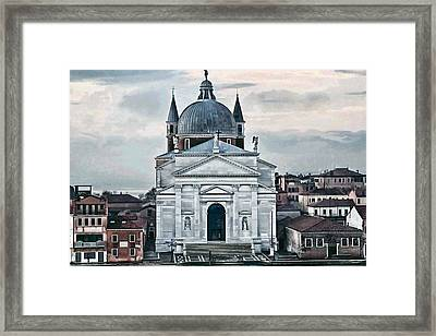 Chiesa Del Redentore Venice Framed Print by Tom Prendergast