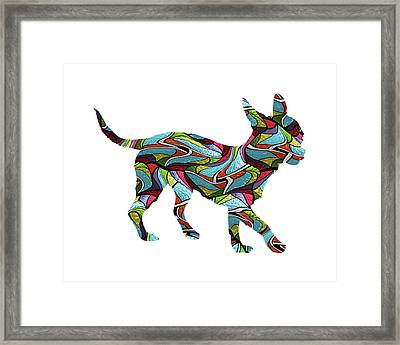 Chihuahua Spirit Glass Framed Print by Gregory Murray