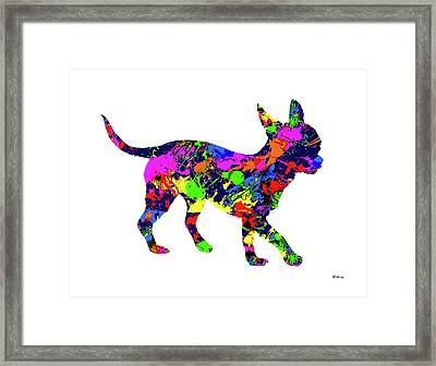 Chihuahua 2 Paint Splatter Framed Print by Gregory Murray