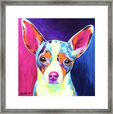 Chihuahua - Brady Framed Print by Alicia VanNoy Call