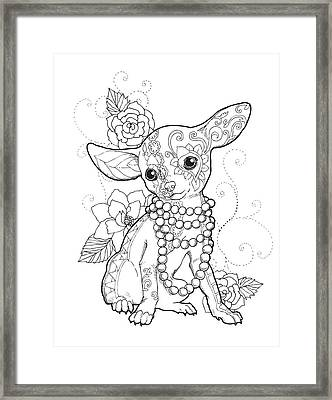 Chihuahua Chic Framed Print by Cindy Elsharouni