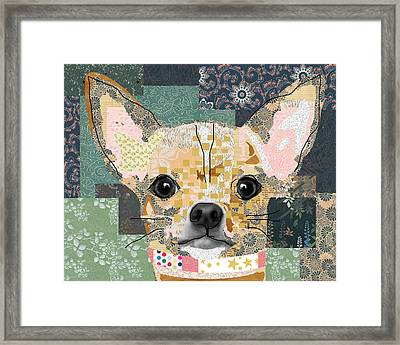 Chihuahua Collage Framed Print by Claudia Schoen