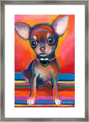 Chihuahua Dog Portrait Framed Print by Svetlana Novikova