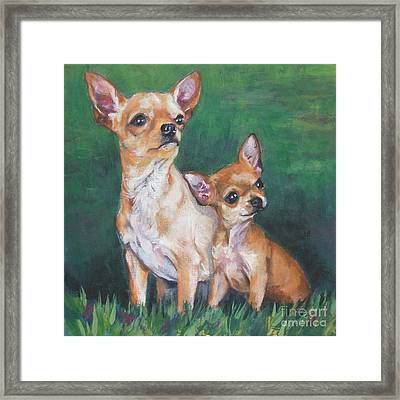 Chihuahua Mom And Pup Framed Print