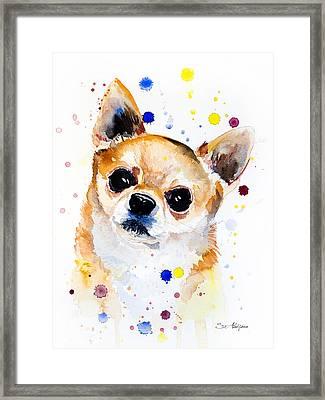 Chihuahua Framed Print by Slavi Aladjova