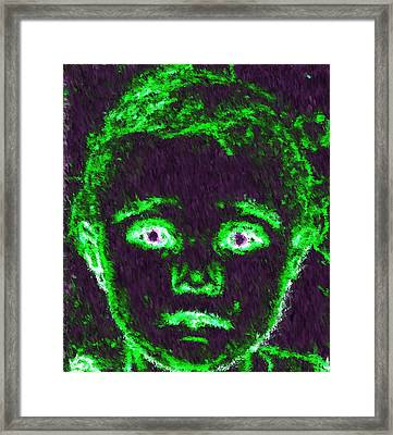 Child Aura Framed Print by Maribel McIntosh
