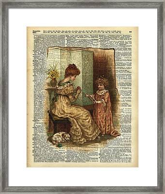 Child Book Crocheting Illustration  Framed Print by Jacob Kuch