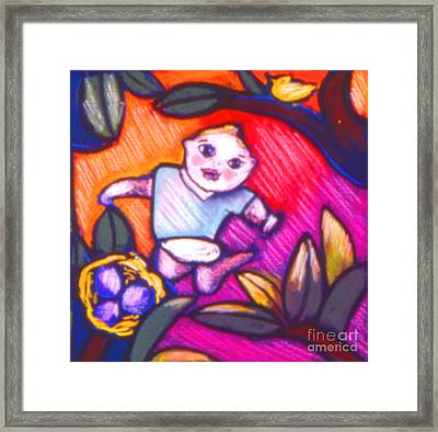 Child Gazing Framed Print by Angelina Marino