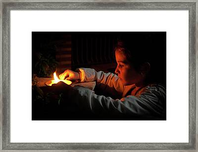 Child In The Night Framed Print
