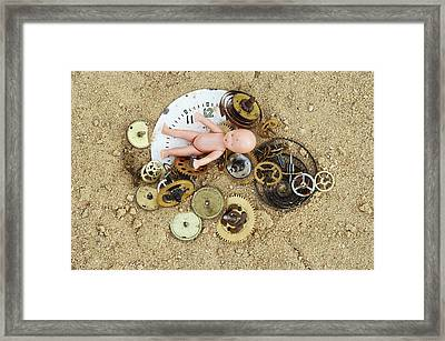 Child In The Time Framed Print by Michal Boubin