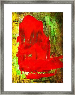Colorful Red Abstract Painting - Child In Time Framed Print by Modern Art Prints
