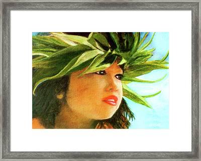Child Keiki In Hawaiian No# 84 Framed Print by Donald k Hall