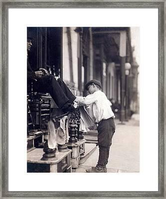 Child Labor, Bootblack At 2 West 4th Framed Print