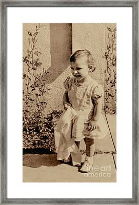 Framed Print featuring the photograph Child Of 1940s by Linda Phelps