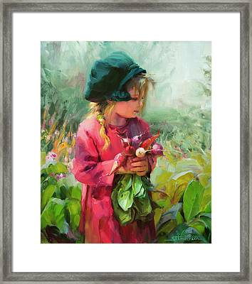 Framed Print featuring the painting Child Of Eden by Steve Henderson