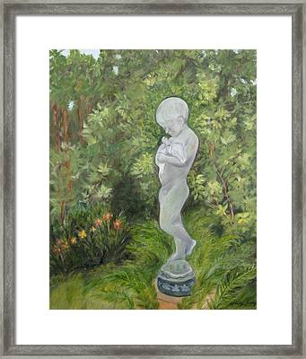 Child Of Peace As In Brookgreen Gardens Framed Print by Shirley Lawing