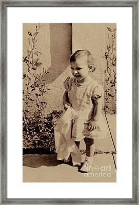 Framed Print featuring the photograph Child Of  The 1940s by Linda Phelps
