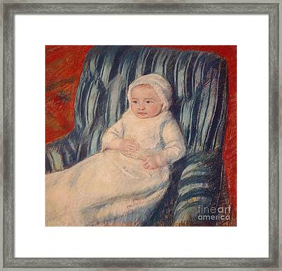 Child On A Sofa Framed Print