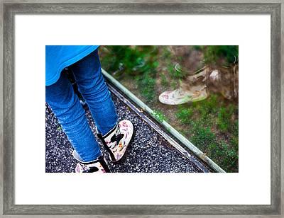Child Reflection Framed Print