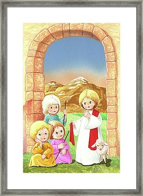 Child Shepherds Framed Print