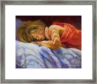 Child Sleeping Print Wall Art Room Decor Framed Print by Patti Trostle
