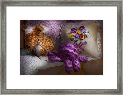 Child - Toy - Octopus In My Closet  Framed Print by Mike Savad