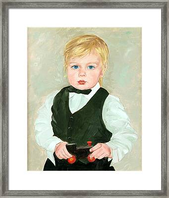 Child With A Toy Framed Print by Ethel Vrana
