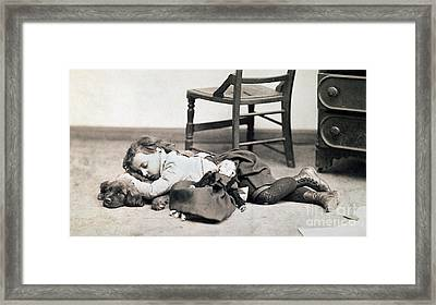 Child With Doll, C1895 Framed Print