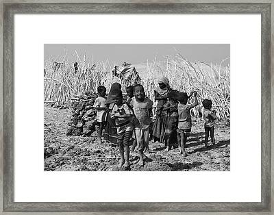 Childern Of The Danakil, Ethiopia Framed Print by Aidan Moran