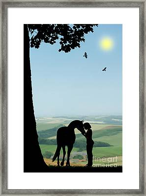 Childhood Dreams The Pony Framed Print