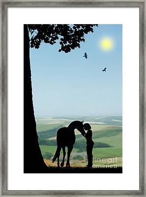 Childhood Dreams The Pony Framed Print by John Edwards