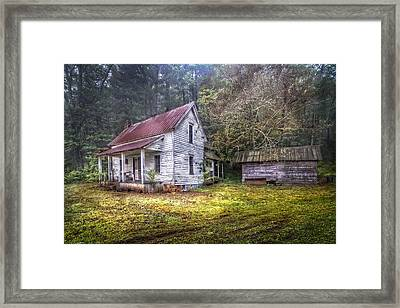 Childhood Home Framed Print by Debra and Dave Vanderlaan