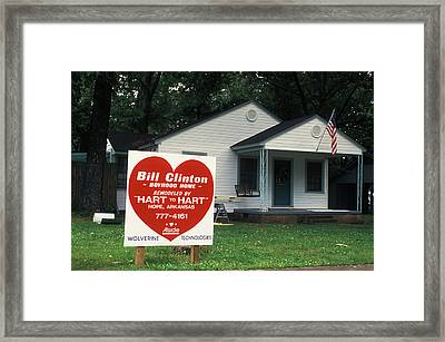 Childhood Home Of Bill Clinton Framed Print by Carl Purcell