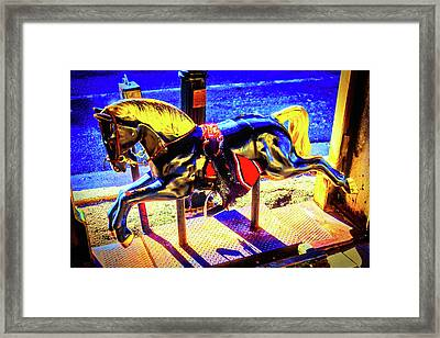 Childhood Horse Ride Framed Print