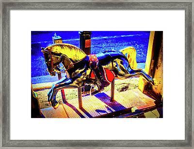 Childhood Horse Ride Framed Print
