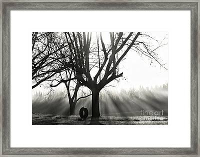 Childhood Memories In Black And White Framed Print
